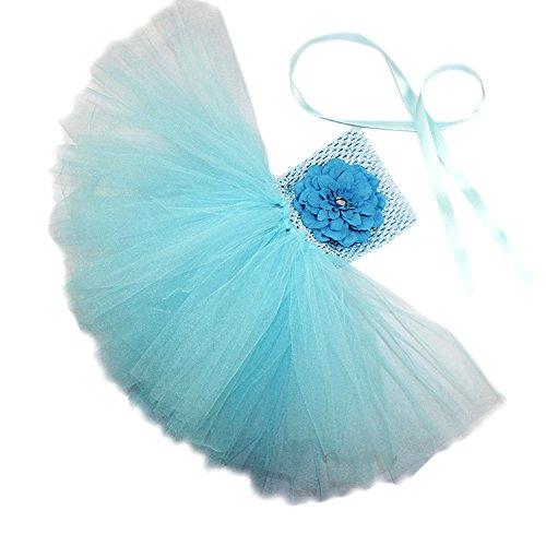 Honeystore Mädchen Spitze Prinzessin Rock Sommer Blumen Kleider für Baby Kleinkinder Kinder 0-2 Jahre alt Small Blau mit (Prinzessin Diy Kostüm Tutu)