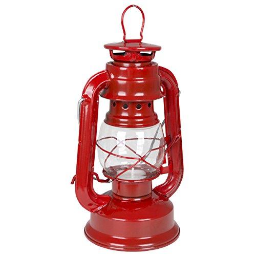 Sturmlaterne geeignet für Teelichter in rot mit Aufhängung oder als Tischlaterne nutzbar • Campinglampe Windlicht Sturmlampe Laterne Lampe Garten Beleuchtung