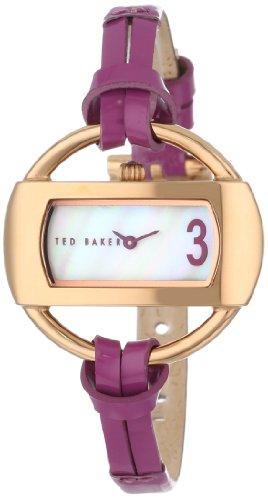 Ted Baker TE2074 - Reloj analógico de cuarzo para mujer con correa de piel, color morado