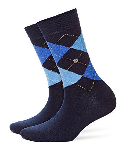 Burlington Damen modische Socken Queen klassisches Argyle Muster Baumwolle 1 Paar Blickdicht, blau (marine 6121) 36/41 (One Size)