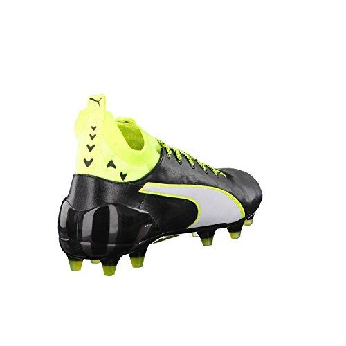 Puma Evotouch 1 Fg, Scarpe da Calcio Uomo Nero / giallo neon