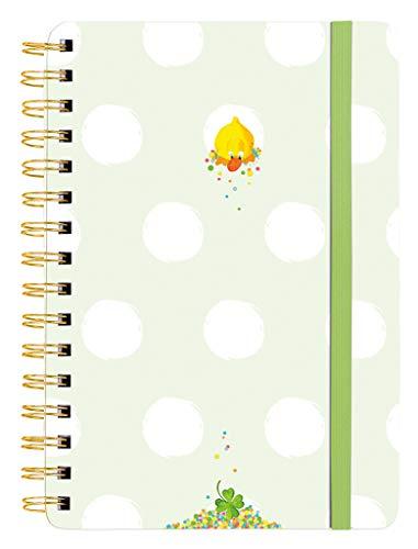 moses. 29173 Notizbuch Quentchen Eintragbuch mit Spiralbindung inklusive Lesezeichen und Sticker