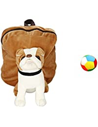 Jrp Mart Brown Bull Dog Soft Toy Bag With Little Ball