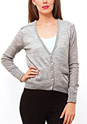 Pepe Jeans Womens Grey Regular Fit Sweaters (Small)