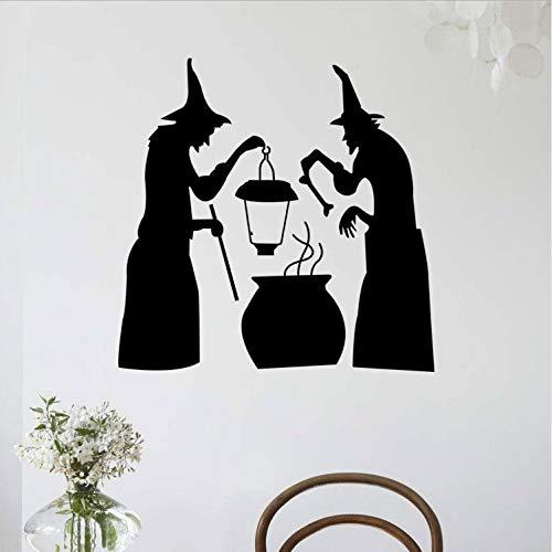 Zller2587 Wandaufkleber Abnehmbare Halloween Ghost Imp Wohnzimmer Dekoration Glas Aufkleber Wandbilder Poster 58 * 57,6 cm