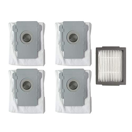 für iRobot Roomba I7 4 Stück Ersatzteile Filter Staubbeutel,Ewendy Sauber Basis Roboter Automatische Schmutz Entsorgung Beutel Filter für iRobot Roomba I7 I7 + / I7 Plus E5 E6 E7 Staubsauger -