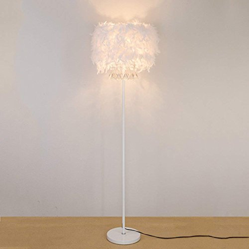 CN Stehlampe Kristall Stehlampe Feder Stehlampe Einfache Moderne Bett Lampe Wohnzimmer Schlafzimmer vertikale Lampe Hochzeit Licht -