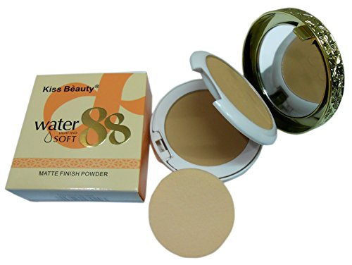 Kiss Beauty Water Light and Soft Matte Finish 2 in 1 Compact Powder