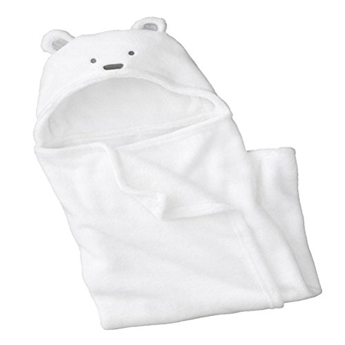 Feelme Baby Swaddle Wrap Infant Toddler Animal Bathrobe Fleece Towel Blanket with Hooded for Bath Pool Beach Shower Gift
