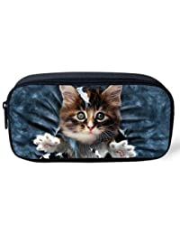 EasyBuy India Pet Dog Print Women Cosmetic Cases Kids Animal Pencil Pouch Makeup Bags Dog Husky Printed Pencil... - B076YD5NRL