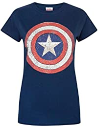 Femmes - Official - Captain America - T-Shirt