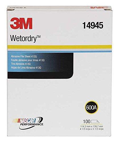 3M (TM) Wetordry (TM) Schleifkorn Datei Tabelle 413q, 14945, 41/2x 51/2in, 600A, 100Blatt pro Box, 10Boxen Pro Fall kaufen werden die Min bestellen Sie Menge das ist 100Luster Fotopapier - Wetordry Schleifpapier 3m