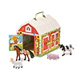 Melissa & Doug- Latches Barn Giocattolo con Animali, Multicolore, 2564