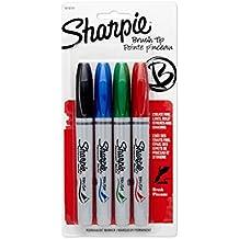 Pennarello pennello punta marcatori 4/Pkg-nero, blu, rosso e verde