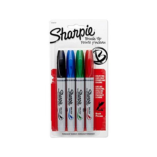 brosse-feutre-pointe-marqueurs-4-pkg-noir-bleu-rouge-et-vert