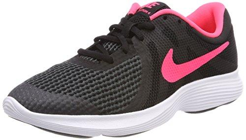Nike Revolution 4 (GS), Zapatillas de Trail Running para Mujer, Negro (Black/Racer Pink/White 004), 38.5 EU