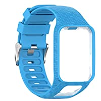 Rstant For TomTom 2 3 Runner 2 3 Spark 3 GPS Watch, Silicone Replacement Watchband, Sports Breathable Wrist Band Strap for Ladies and Men