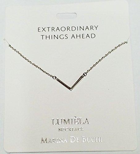 Außergewöhnliche Dinge Ahead (V-Sign) lumeila Halskette Marina de Buchi Silber Farbe von Sterling effectz