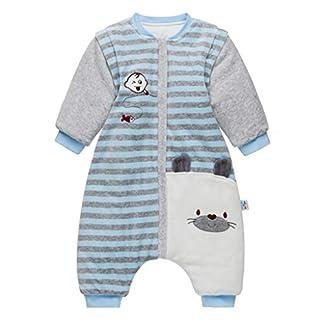 Bolsa de Dormir de Bebé de Mangas Largas,Invierno Sacos de Dormir para Bebé Niños Niñas