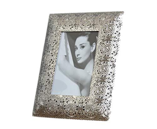 en Metall silber Orientalisch antik Rahmen Fotorahmen Standrahmen Wandrahmen (23x18x15 A) ()
