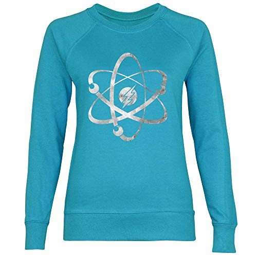 Royal Shirt Damen Sweatshirt Die Urknalltheorie, Größe:L, Farbe:Azure Blue