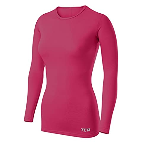 TCA T-shirt/Top Femme Sport SuperThermal Performance à manches longues, Running Training - Rose, M