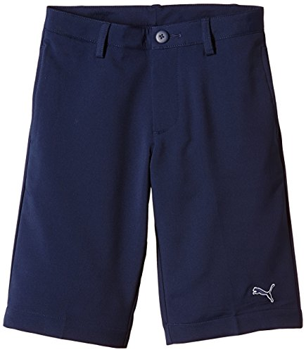 Puma Golf Tech Kinder Shorts 12 Jahre Blau - Peacoat