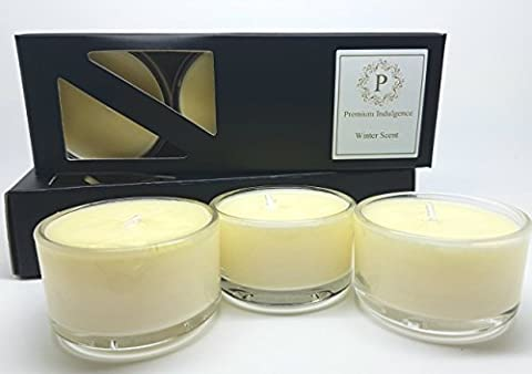 Lime, Basil & Mandarin 100% plant wax Organic Natural Scented Candle in Glass Votive. (9 x Tealights)