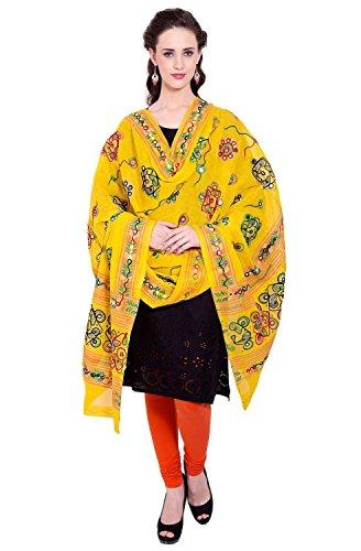 Dupatta / Stole Cotton for Women - Thread Embroidered Traditional Designer Aari...
