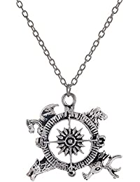 4c820e41f057 lureme® A Song of Ice and Fire Game of Thrones Compass Vendimia Targaryen  Collares pendientes