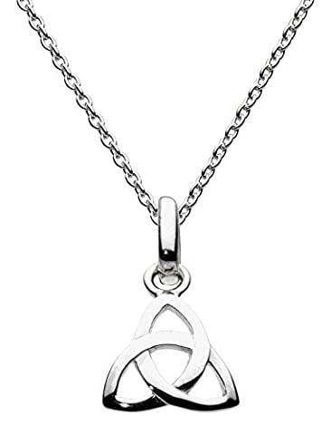 Heritage Women's Sterling Silver Celtic Trinity Knot Necklace of Length 18 inch
