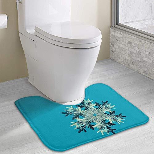 Hoklcvd Blaue Snowf Rutschfeste Kontur Badematte für Toilette, saugfähiges Wasser, perfekt für Badezimmer. Kaufen Sie online Badematten zu den besten Preisen