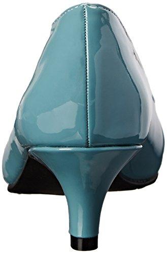 Doux Style Par Hush Puppies Pump Aubrey Dress Soft Blue Patent Polyurethane