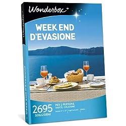 Wonderbox - Cofanetto Regalo per San Valentino - Week End D'EVASIONE - 2695 soggiorni in Hotel 4* e 3*, agriturismi e B&B per 2 Persone