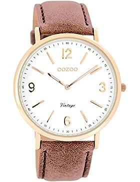 Oozoo Damen-Armbanduhr Analog Quarz Leder C7362