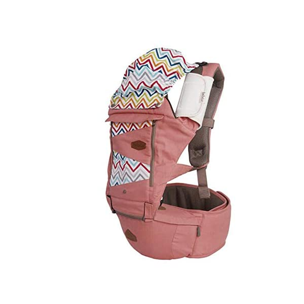 """FIFY baby carriers Baby sling breathable shoulder multi-function baby waist stool baby sling seat special paragraph C17 blush powder, A FIFY Offer three carrier method: outward-facing, inward-facing and back carrying; product care: machine wash, warm (40 degrees). wash separately with a gentle, bleach-free detergent Age: from 3 months-14 months (at least 3.6 kg -9.1 kg) COMFORTABLE & ERGONOMIC AS BABY GROWS: Easy to adjust bucket seat supports your baby in an ergonomic natural """"M"""" position in all carry positions from baby to toddler. 1"""