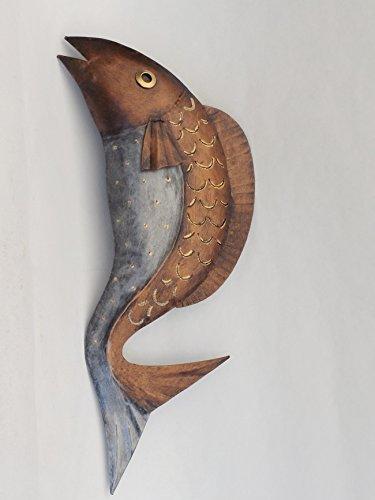 KLP Wanddeko Metall Fisch Zierfisch Wandbild Deko Maritim Garten Figur Skulptur -