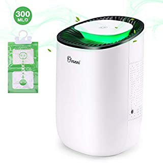 Ovonni Electric Dehumidifier,Compact Ultra Quiet Portable Electric Auto Dehumidifier 600ML Capacity for Damp, Mould,Moisture Absorber in Home, Kitchen, Bedroom,Closet,Wardrobe,Office,Basement