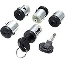 FDBF 5 Pcs Barrel Lock Set Door Lock Set for Citroen Synergie Peugeot Expert 806