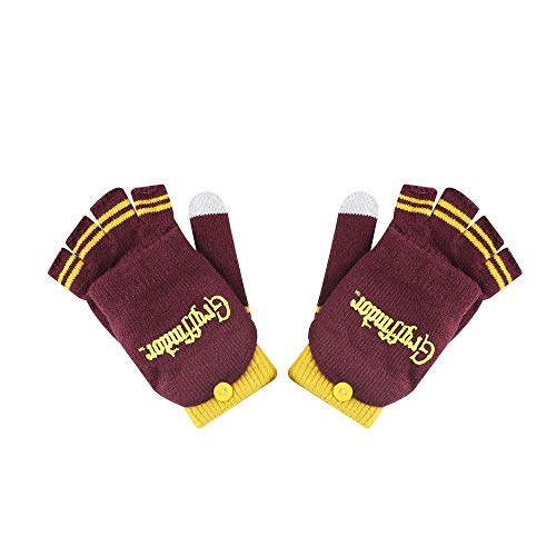 Cinereplicas - Harry Potter - Gants - Moufles Amoviles - Fonction Tactile - Licence Officielle - Maison Gryffondor - Rouge et Jaune