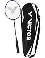 Victor V-3700 Magan Graphite Badminton Racquet - Black/Blue - 89g by Victor