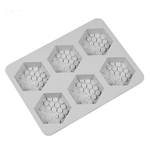 DEESEE(TM) Silikonform für 6 Löcher, Honigbienen-Design, Seife, Wachs, für handgefertigte Bastelarbeiten