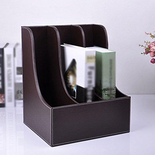 Soporte para libros Rack para archivos Creative Office Supplies 29 * 25.5 * 35 Cm Black ( Color : #2 )