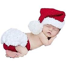 Demarkt Ropa infantil lindo de Navidad del bebé recién nacido del ganchillo hecho a mano Beanie Hat