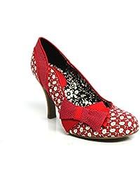 Ruby Shoo Millie F10988D - Escarpins à talon haut avec noeud - Rouge