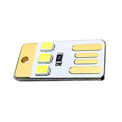 Magideal Pocket Lamp Mini Usb Touch Switch 3 Led Night Light Bulb Card Lamp White