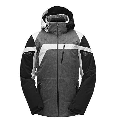 Spyder Herren Titan Jacke, Tech Flannel/Black/White, L