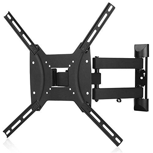 Paladinz M-303 - Soporte de pared para televisor, inclinación y giro, carga máxima, 25 KG, Negro