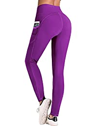 7868793e32285 IUGA Yoga Pants with Pockets, Tummy Control, Workout Running Leggings with  Pockets for Women