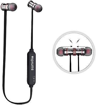 Sunvito Bluetooth 4.0 Auriculares Wireless Stereo Headset Deportes Correr Gimnasio Ejercicio Auriculares Auricular con Micrófono y la Batería Recargable del Li-ion para El iPhone, iPad, iPod, Android Smart Teléfonos y Todos Los Dispositivos Bluetooth